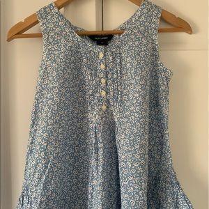 Ralph Lauren Girls Sleeveless Blue Blouse